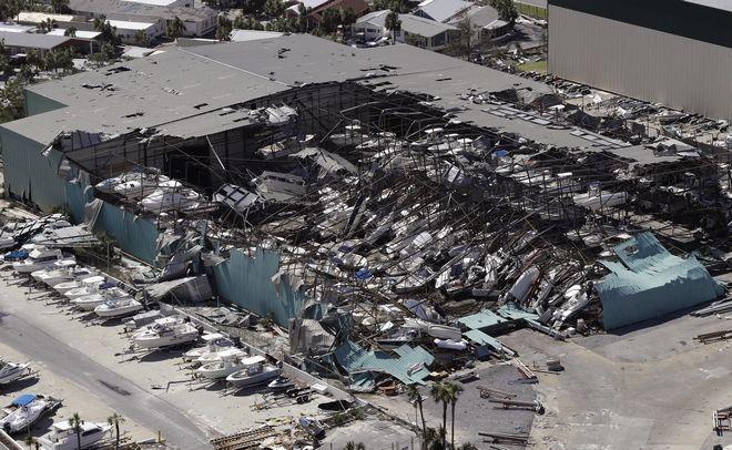 Εικόνα από το Πάναμα Σίτι στη Φλόριντα μετά το πέρασμα του κυκλώνα Μάικλ