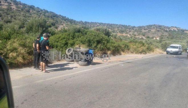 Τρομακτικό δυστύχημα με γουρούνα στην Κρήτη: Ένας νεκρός και μια βαριά τραυματίας gourouna3