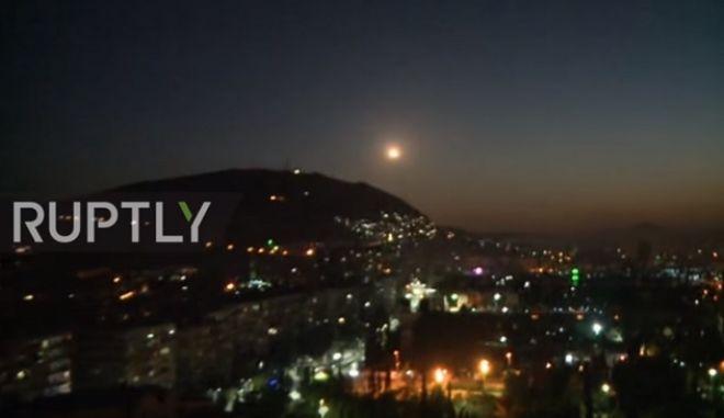 Βίντεο του συριακού στρατού από αναχαιτίσεις αμερικανικών πυραύλων