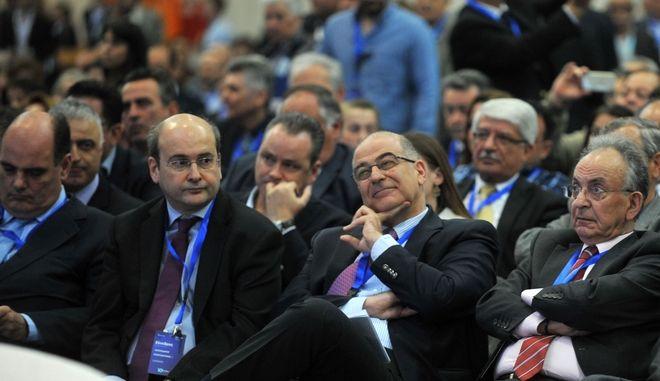 Κωστής Χατζηδάκης και Νίκος Δένδιας κατά παλαιότερη κομματική εκδήλωση
