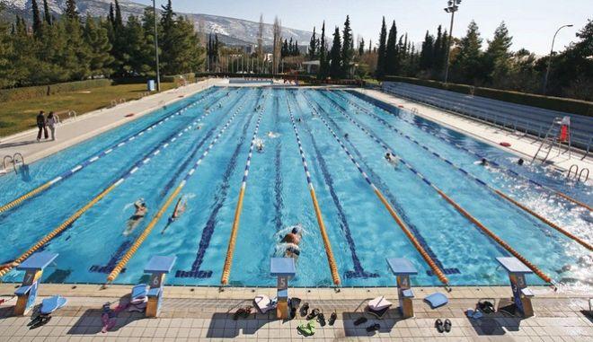 Το κολυμβητήριο στις εγκαταστάσεις του Γουδή