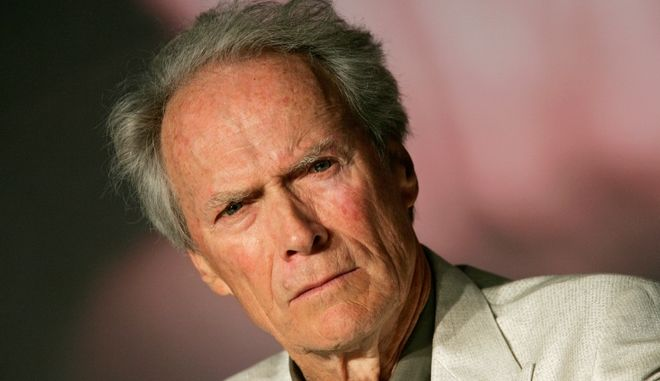 """American director Clint Eastwood is seen at the press conference for the film """"Changeling"""" during the 61st International film festival in Cannes, southern France, on Tuesday, May 20, 2008.  (AP Photo/Francois Mori)"""