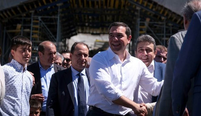 Στιγμιότυπο από την περιοδεία του Πρωθυπουργού, Αλέξη Τσίπρα στην Κρήτη