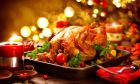 Γαλοπούλα σε χριστουγεννιάτικο τραπέζι
