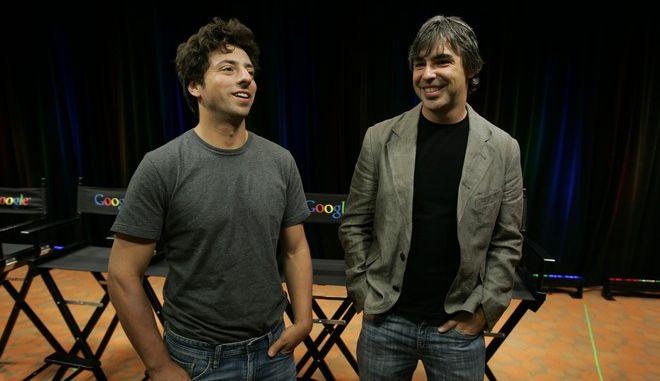 Ο Sergey Brin (αριστερά) και ο Larry Page