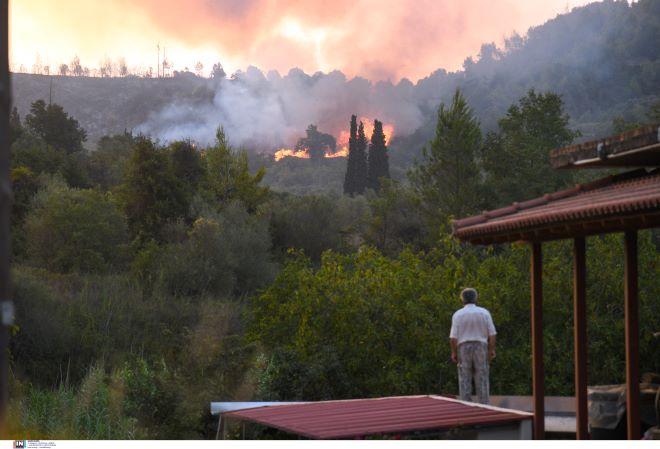 Φωτιά στην Αρχαία Ολυμπία 5 Αυγούστου