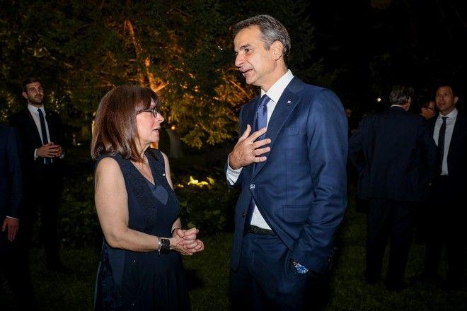 Κατερίνα Σακελλαροπούλου και Κυριάκος Μητσοτάκης