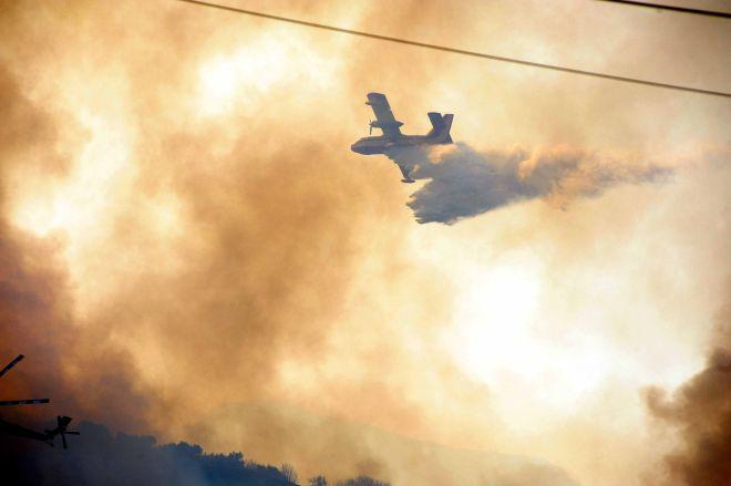 Πυρκαγιά στις περιοχές Μαγούλα και Ρίο της Αχαΐας, Τετάρτη 18 Ιουλίου 2012. (EUROKINISSI/ΑΝΔΡΕΑΣ ΑΛΕΞΟΠΟΥΛΟΣ)