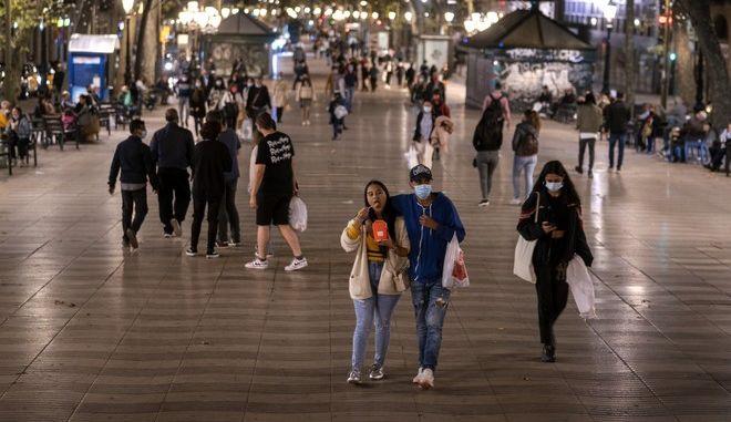 Εικόνα από τη Βαρκελώνη τον Οκτώβριο του 2020