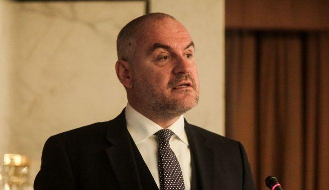Ο πρόεδρος του Συνδέσμου Βιομηχανιών Ελλάδος, Αθανάσιος Σαββάκης.