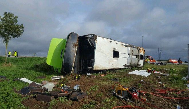 Ατύχημα με λεωφορείο στη Γαλλία