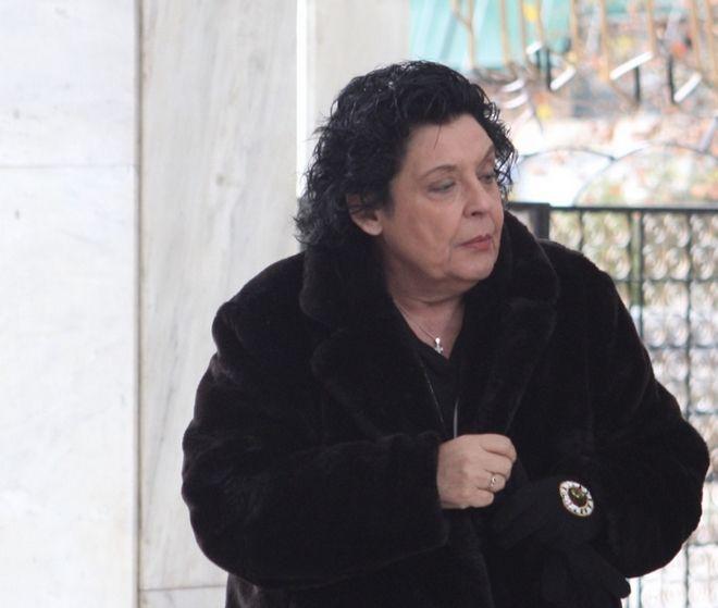 Η Λιάνα Κανέλλη στην πολιτική κηδεία του Θάνου Μικρούτσικου
