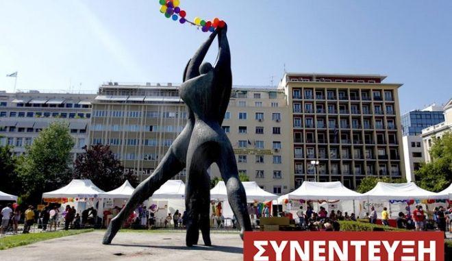 Athens Pride 2012 festival took place at Klathmonos Sq /   Athens Pride 2012