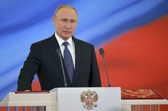 Πρόεδρος της Ρωσίας, Βλαντιμίρ Πούτιν, κατά την ορκωμοσία του