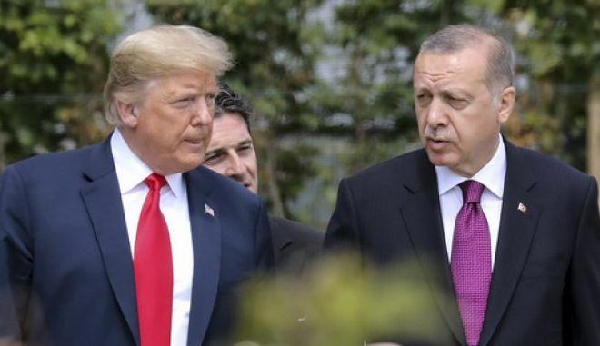 Οι πρόεδροι ΗΠΑ και Τουρκίας, Ντόναλντ Τραμπ και Ρετζέπ Ταγίπ Ερντογάν
