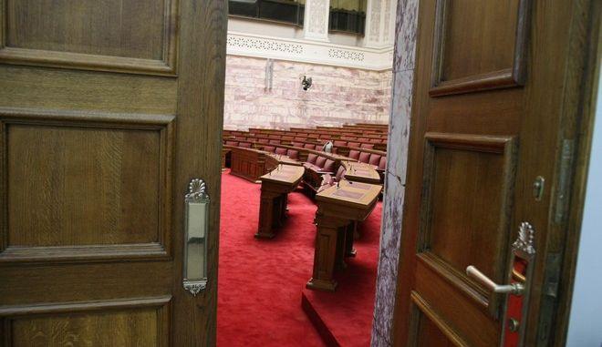 ΑΘΗΝΑ-ΒΟΥΛΗ-Αναβλήθηκε η συνεδρίαση της Κοινοβουλευτικής Ομάδας του ΣΥΡΙΖΑ.(Eurokinissi-ΜΠΟΛΑΡΗ ΤΑΤΙΑΝΑ)