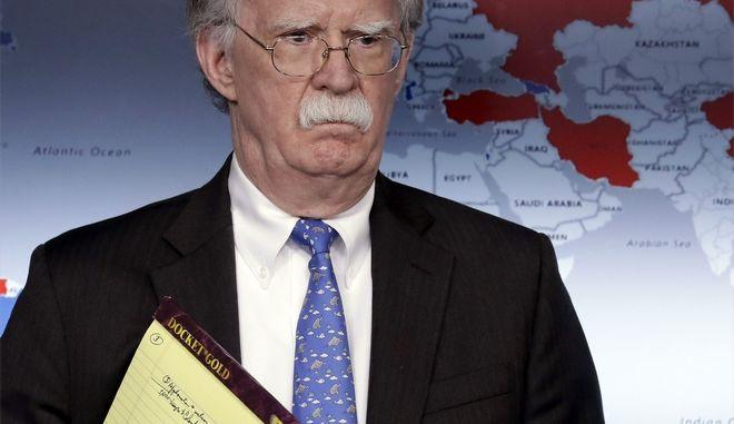 Ο σύμβουλος εθνικής ασφάλειας του Ντόναλντ Τραμπ, Τζον Μπόλτον