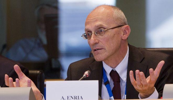Ο επικεφαλής του Εποπτικού Συμβουλίου της Ευρωπαϊκής Κεντρικής Τράπεζας, Αντρέα Ενρία