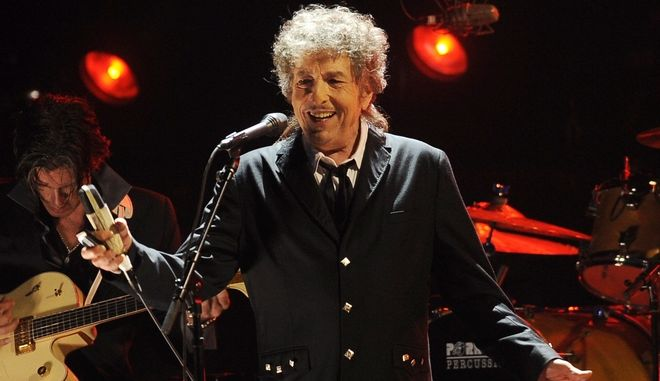Φωτογραφία από συναυλία του Μπομπ Ντίλαν το 2012 στο Λος Άντζελες