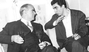 Ο Κωνσταντίνος Καραμανλής με το Δημήτρη Χορν