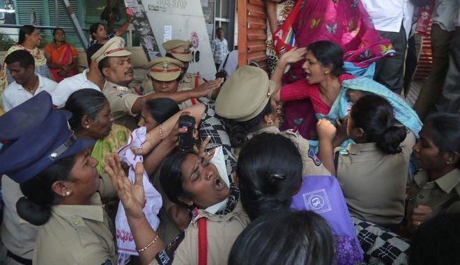 Η ινδική αστυνομία κρατά μέλη του Κέντρου ινδικών συνδικάτων