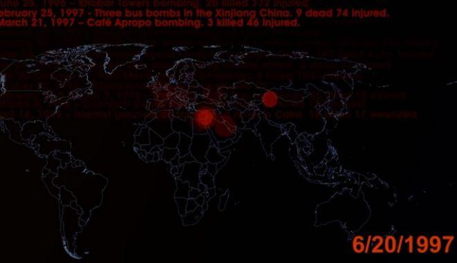 Βίντεο: Οι τρομοκρατικές επιθέσεις σε όλο τον κόσμο σε 2 λεπτά