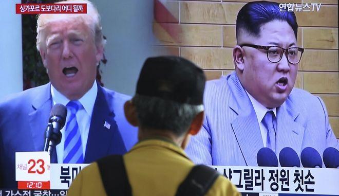 Απειλεί και ο Τραμπ να ακυρώσει την συνάντηση με τον Κιμ Γιονγκ Ουν