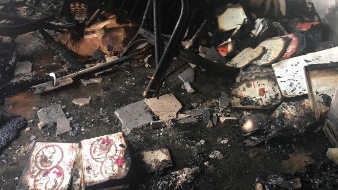 Κάηκε δωμάτιο παρακείμενης πολυκατοικίας, μεσοτοιχία με την αποθήκη που έπιασε φωτιά