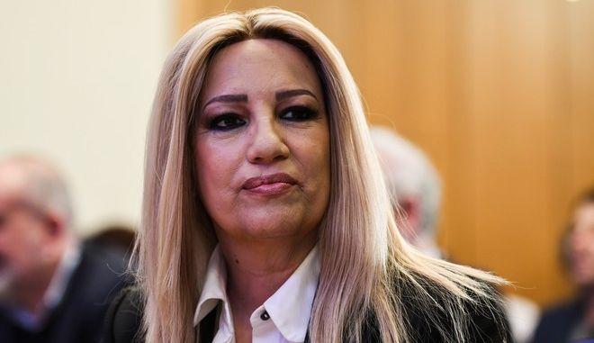H πρόεδρος του ΚΙΝΑΛ Φώφη Γεννηματά σε συνεδρίαση του κινήματος