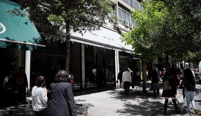 Καταστήματα στο εμπορικό κέντρο της Αθήνας