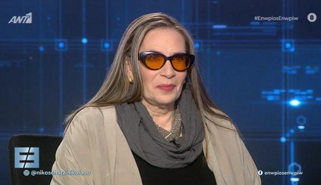 Η Λίνα Νικολακοπούλου στο Ενώπιος Ενωπίω