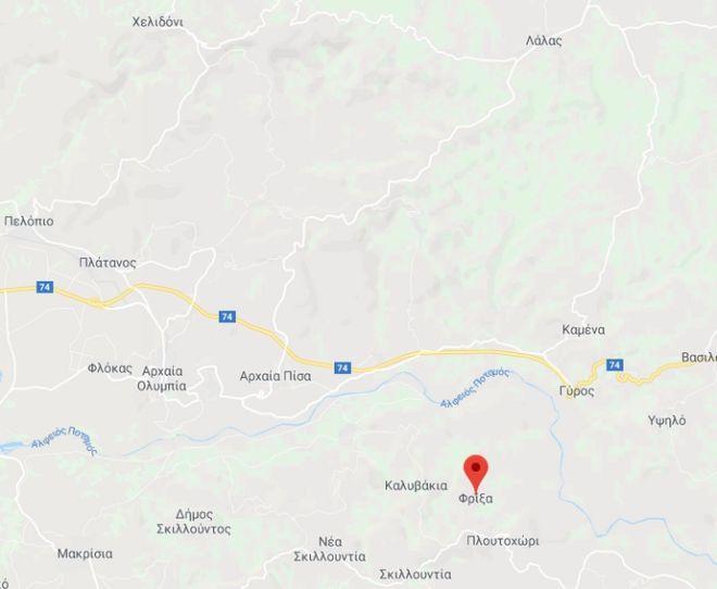 Ηλεία: Μεγάλη πυρκαγιά στη Φρίξα Κρεστένων