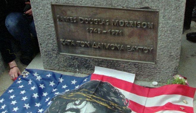 O τάφος του Jim Morrison