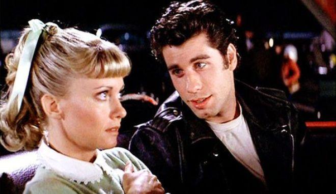 """Σκηνή από το Musical, """"Grease"""", που κυκλοφόρησε στους κινηματογράφους πριν από 40 χρόνια"""
