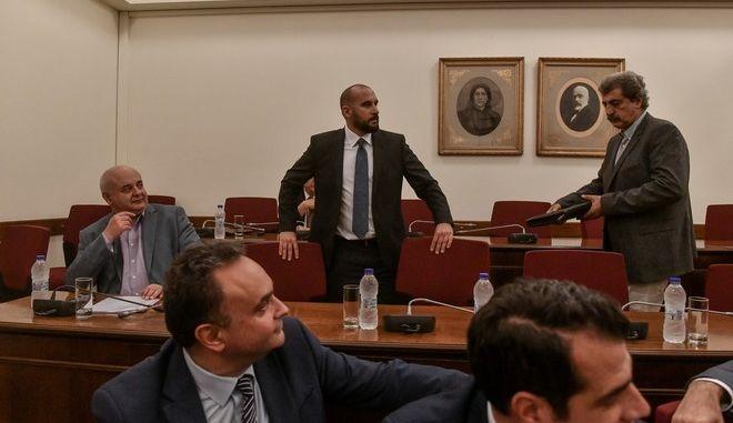 Αναβλήθηκε η Προανακριτική για τη Novartis - Πολάκης, Τζανακόπουλος πήγαν στη συνεδρίαση