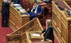 Στιγμιότυπο από τη συζήτηση στη Βουλή για την Επιτροπή αναθεώρησης του Συντάγματος