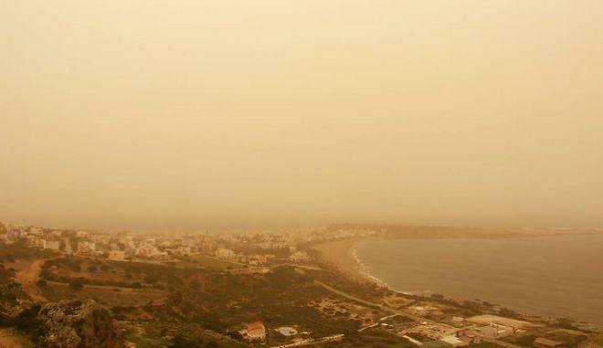 Αφρικανική σκόνη στα Χανιά