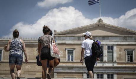 Ζέστη στο κέντρο της Αθήνας