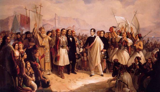 H άφιξη του Λόρδου κύρωνα στο Μεσολόγγι.