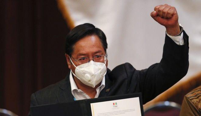 Ο νέος πρόεδρος της Βολιβίας, Λουίς Άρσε