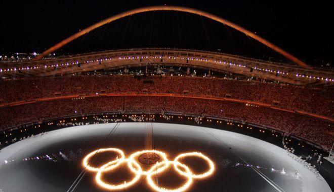 Από την τελετή έναρξη των Ολυμπιακών Αγώνων της Αθήνας το 2004
