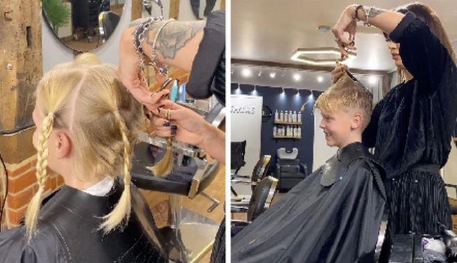 Το μικρό αγόρι άφηνε τα μαλλιά του να μακρύνουν για 18 μήνες