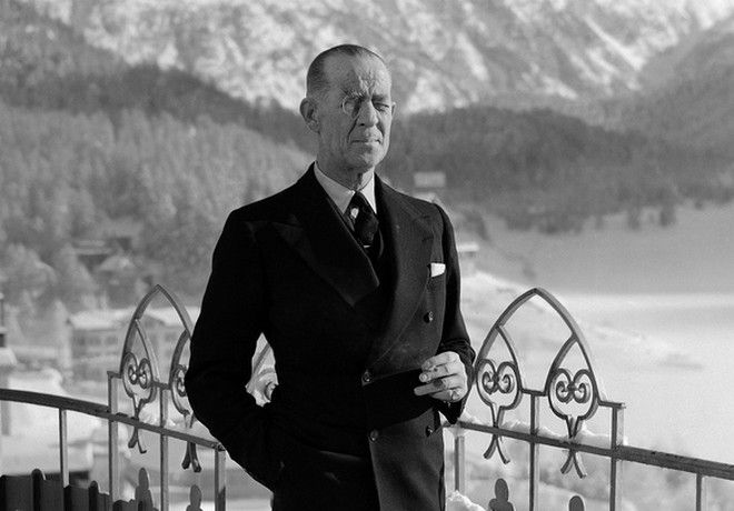 O Πρίγκιπας Ανδρέας, στις 27/12 του 1938 στο St. Moritz.