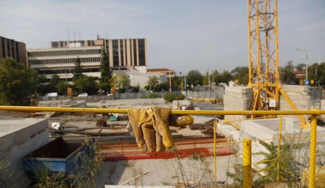 Εργασίες κατασκευής στη Θεσσαλονίκη (φωτογραφία αρχείου)