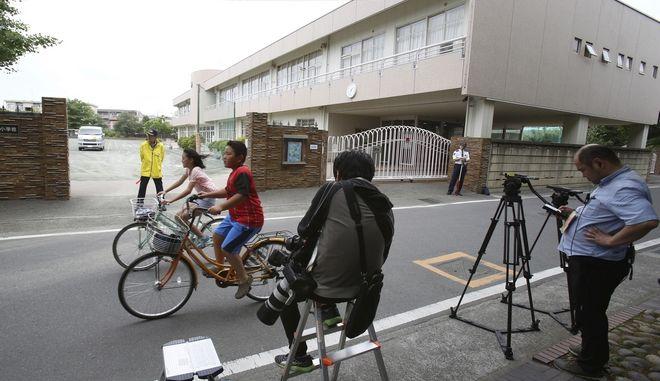 Το σημείο της επίθεσης με μαχαίρι κατά μαθητών στο Καβασάκι