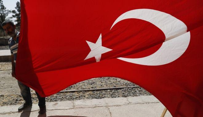 Η τουρκική σημαία.