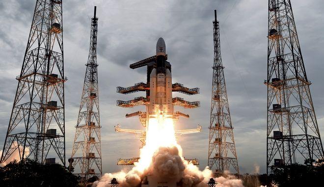 Ο ινδικός πύραυλος εκτοξεύτηκε στις 22 Ιουλίου 2019
