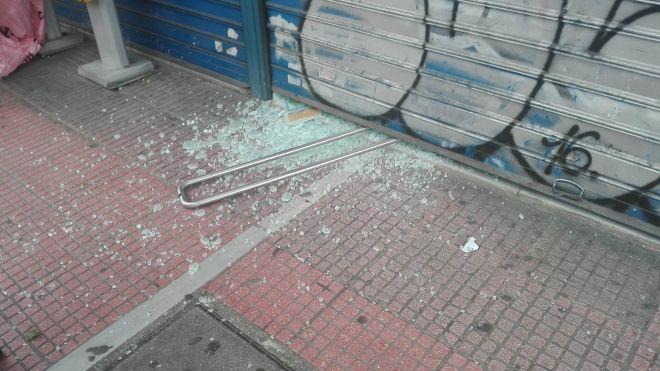 Έσπασαν τα ΕΛΤΑ και βιτρίνες καταστημάτων στην Πατησίων