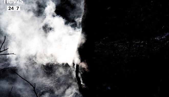 Στάχτη και αποκαΐδια ο Κάλαμος: Η εικόνα μετά τη φωτιά kalamos06c