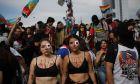 Γυναίκες διαδηλώτριες στη Χιλή